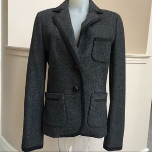 J crew jacket Wool charcoal color size 4